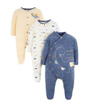 Mothercare Dinosaur Sleepsuits - 3 Pack