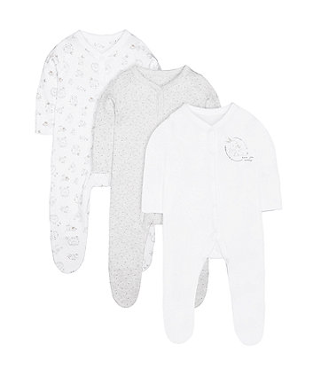 Woodland Friends Sleepsuits - 3 Pack