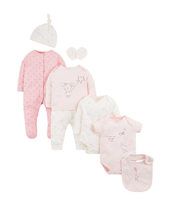 b6219b4e1dc mothercare my first σετ 8 τεμαχίων - ροζ