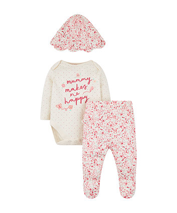 ad7fb53801e mothercare mummy and daddy σετ 3 τεμαχίων