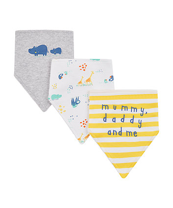 Mothercare Mummy And Daddy Bibs - 3 Pack