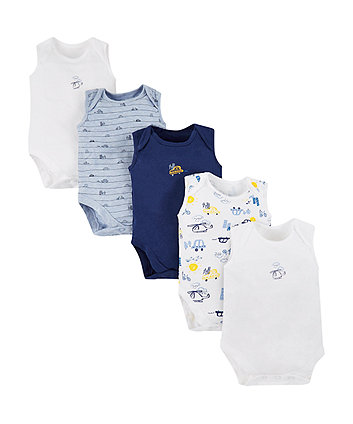 Mothercare On The Road Bodysuits - 5 Pack