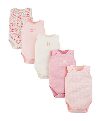864119c170d mothercare mummy and daddy κορμάκια - πακέτο των 5