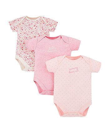 Mothercare Mummy And Daddy Bodysuits - 3 Pack