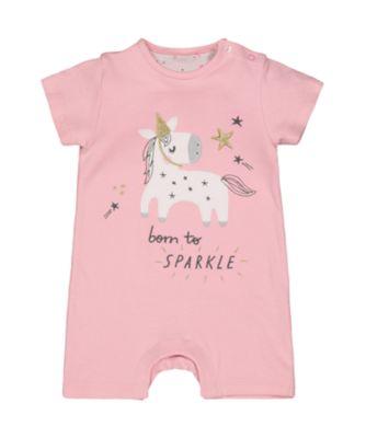 Mothercare Sparkly Unicorn Romper