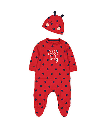 Mothercare Ladybird All In One With Hat