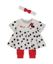 Mothercare Disney Baby Minnie Mouse Top, Leggings And Headband Set