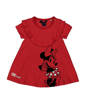 Mothercare Disney Minnie Mouse Red Romper Dress