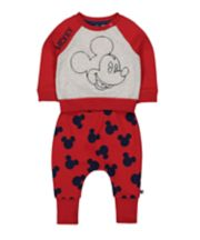 Mothercare Disney Baby Mickey Mouse Sweat Top And Joggers Set