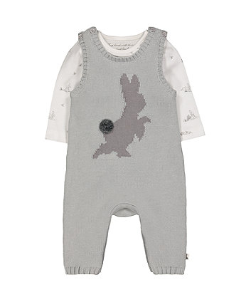 Mothercare Peter Rabbit Dungarees And Bodysuit Set