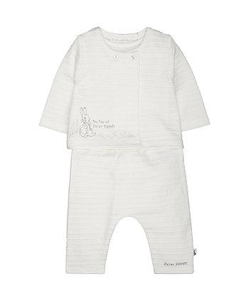 Mothercare Peter Rabbit Jacket, Bodysuit And Leggings Set
