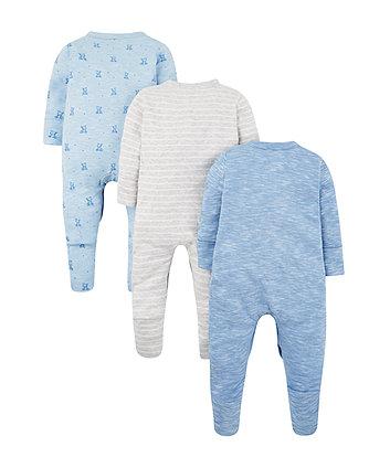 63191f53474 mothercare my first μπλε φορμάκια - πακέτο των 3