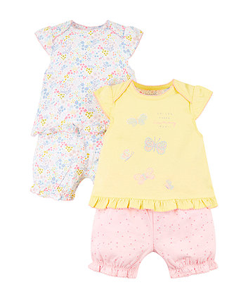 Summer And Floral Shortie Pyjamas - 2 Pack