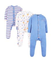 Mothercare Car Sleepsuits – 3 Pack