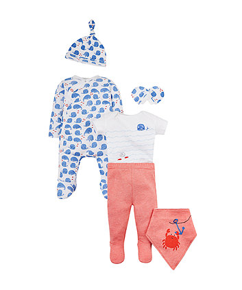 Mothercare Whale 6-Piece Set