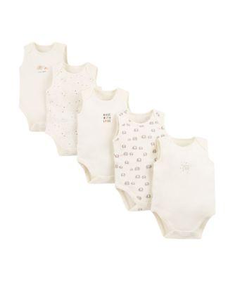 Mothercare Elephant Sleeveless Bodysuits � 5 Pack