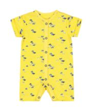 Mothercare Yellow Cars Romper