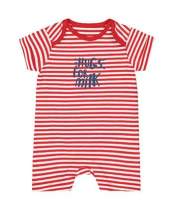 Mothercare Hugs For Milk Red Stripe Romper