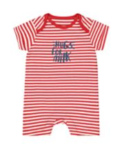 Mothercare Hugs For Milk Red Stripe Romper