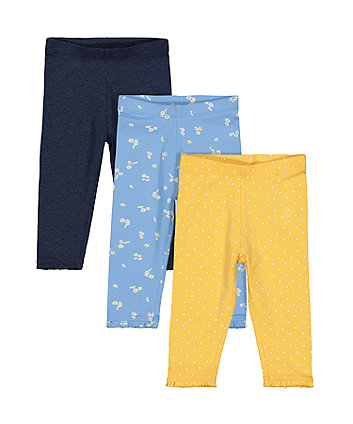 Mothercare Daisy And Spot Leggings - 2 Pack