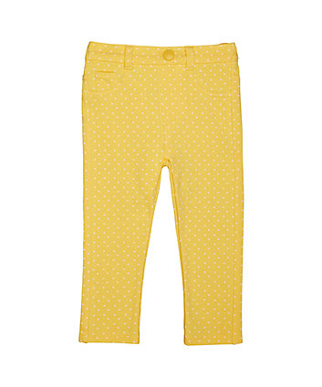 Mothercare Yellow Spot Jeggings
