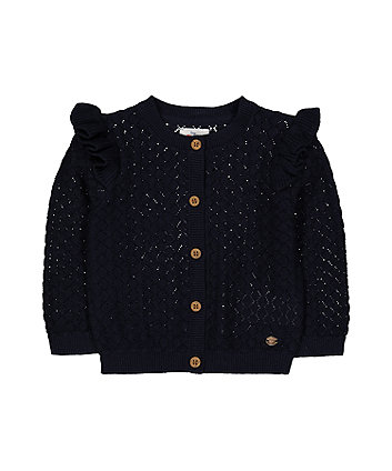Mothercare Navy Pointelle Cardigan