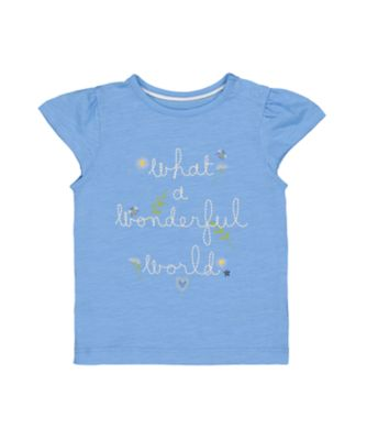 Mothercare Good Vibes Wonderful World Short Sleeve T-Shirt