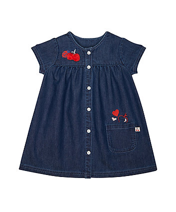 Mothercare Denim Ladybird Dress