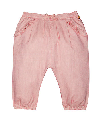 Mothercare Coral Chambray Harem Trousers