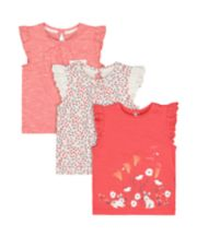 Coral Bunny T-Shirts - 3 Pack