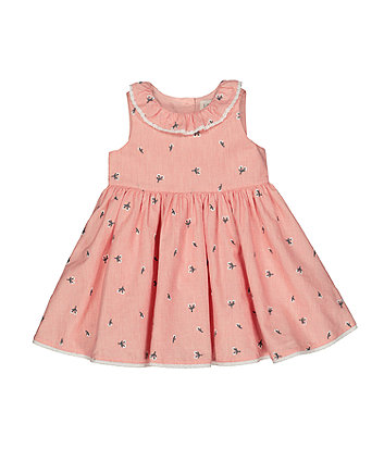 Mothercare Floral Embroidered Dress
