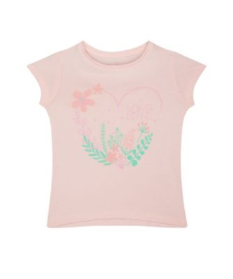 Mothercare Caribbean Dream Pink Heart Short Sleeve T-Shirt