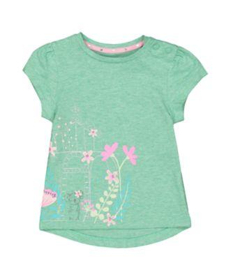 Mothercare Caribbean Dream Koala And Flowers Green T-Shirt
