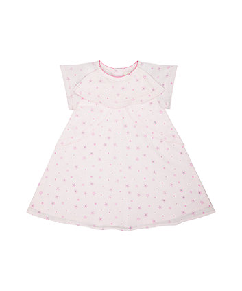 Mothercare Pink Floral Ruffle Dress