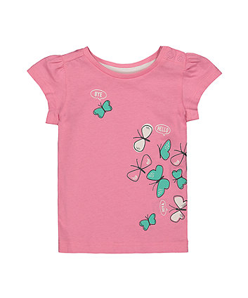 Mothercare Pink Butterfly T-Shirt