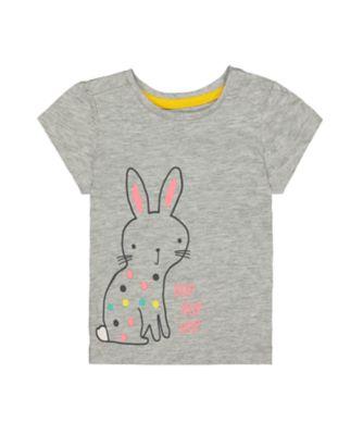 Mothercare MC61 Grey Bunny Short Sleeve T-Shirt