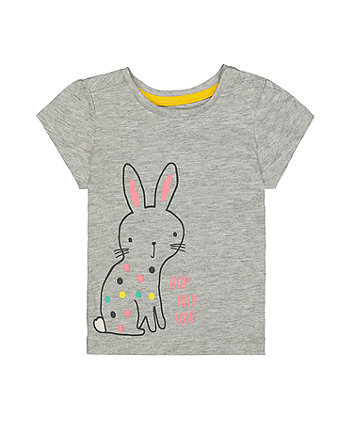 Mothercare Grey Bunny T-Shirt