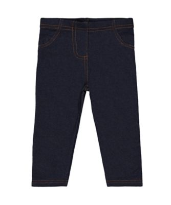 Mothercare MC61 Dark-Wash Denim-Look Jeggings