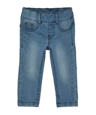 Mothercare Denim Light-Wash Denim-Look Jeggings