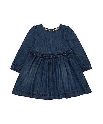 Mothercare Denim Frill-Waist Dress