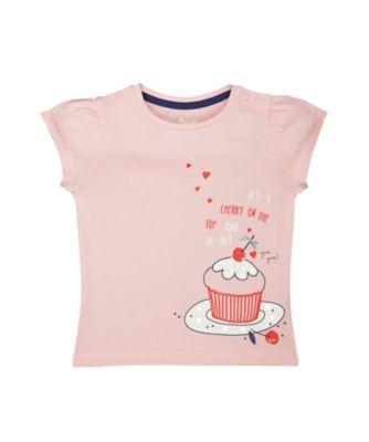 Mothercare Crem De La Crem Pink Cupcake Short Sleeve T-Shirt
