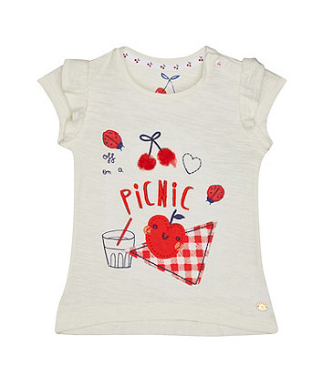 Cream Picnic T-Shirt