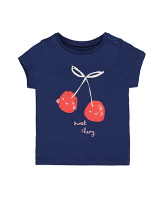 Mothercare Crem De La Crem Sweet Cherry Short Sleeve T-Shirt