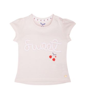 Mothercare Crem De La Crem Pink Striped Sweet Short Sleeve T-Shirt