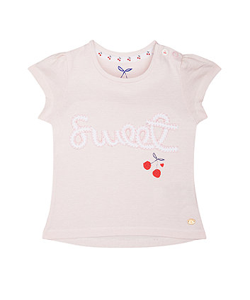 Mothercare Pink Striped Sweet T-Shirt
