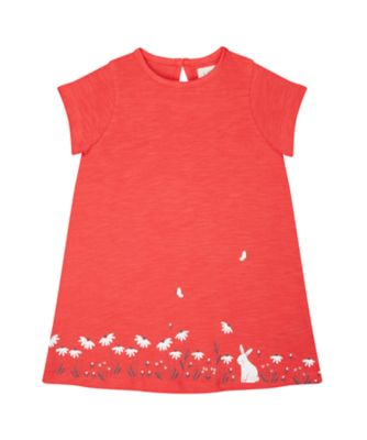 Mothercare Fantastic Trip Bunny And Flowers Coral Dress