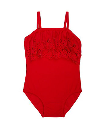 Mothercare Red Frill Swimsuit