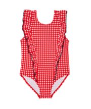 Red Gingham Swimsuit