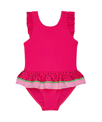 Mothercare Pink Watermelon Swimsuit