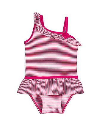 Pink Stripe Swimsuit